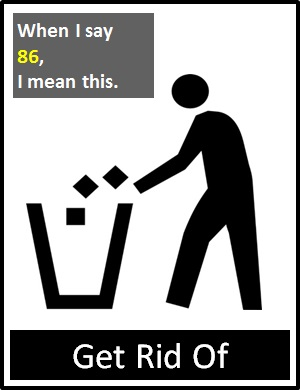 meaning of 86