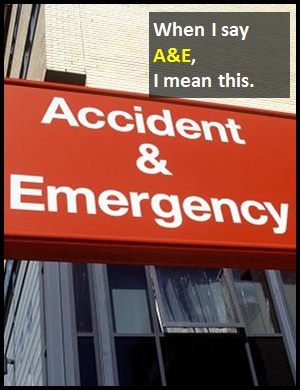 meaning of A&E