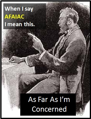 meaning of AFAIAC