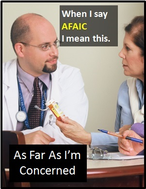 meaning of AFAIC