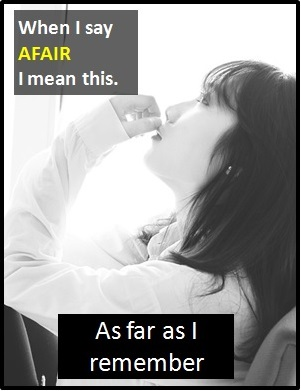 meaning of AFAIR
