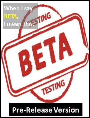 meaning of BETA