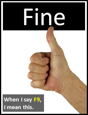 meaning of F9