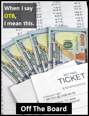 Otb betting term ats sports betting no deposit required