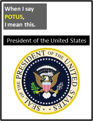 meaning of POTUS