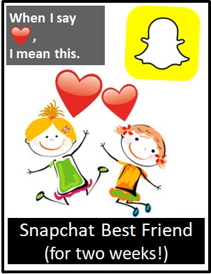 red love heart snapchat meaning