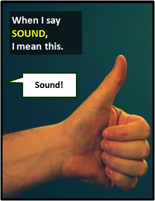 meaning of SOUND