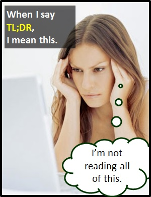 meaning of TLDR
