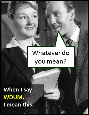 meaning of WDUM
