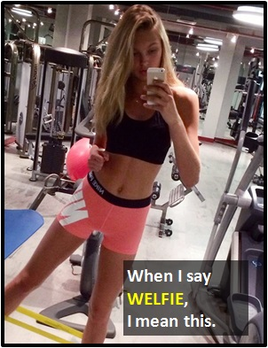 meaning of WELFIE