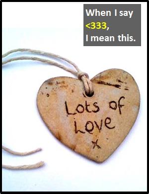 The Extra 3s Denote Extra Love.
