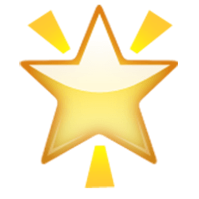 Glowing Star Emoji